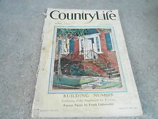 APRIL 1927 COUNTRY LIFE vintage magazine ( GREAT ADS ) BUILDING NUMBER