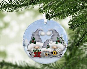 Gonk Gonks Christmas Personalised Gift Present Keepsake Bauble Tree Family