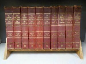The Childrens Encyclopedia Arthur Mee c1950 Full Set 10 Books ID8910