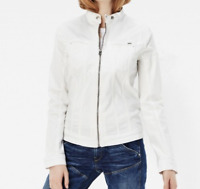 G-Star Midge Dumont JKT WMN 3D Aged White LAdies Size UK M *REF57