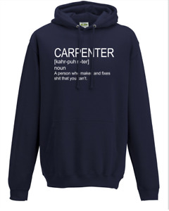 Carpenter Definition- The Meaning of Work Hoodie Sweat