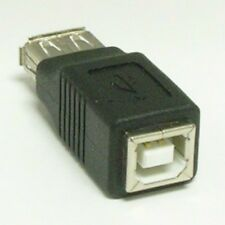 USB A type Female to USB B type Female F/F Gender Changer Adapter