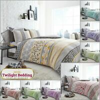 HELSBY DUVET COVER PILLOW CASE Geometric Shape Bedding Set Soft Quilt Covers