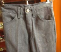 24x28 True Vtg 70s FARAH GOLD/GRAY KNIT HIPPY MOD BOOTCUT PANTS JEANS USA