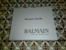 Libretto istruzioni (service guide) Balmain