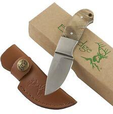 Elk Ridge Burl Wood Mini Hunter Fixed Blade Knife ER111 Hunting Full Tang Sheath