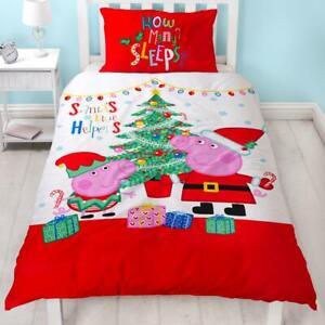 Kinderbettwäsche Peppa Wutz Weihnachten mit George Pig Weihnachtsbettwäsche Neu