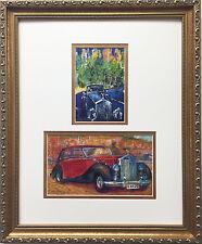 "LeRoy Neiman ""Rolls Royce Central Park & Monte Carlo Rolls"" CUSTOM FRAMED Print"