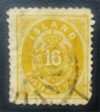 nystamps Iceland Stamp # 7 Used $625 J15y886