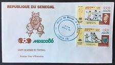 Senegal FDC cover 1986 Mexico Soccer World Cup