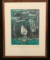 SANTI ESTEBAN AQUATINT FANTASY SURREALISM PRINT TITLED 'YOOS' ARTIST PROOF
