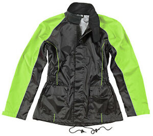 Joe Rocket Women's RS-2 Rain Suit Sm Black/Hi-Viz
