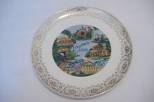 ~Virginia~Mother Of Presidents~Vintage Souvenir Ceramic Plate~9 Inch Diameter~