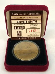 Highland Mint Emmitt Smith with Case 04131/25000!