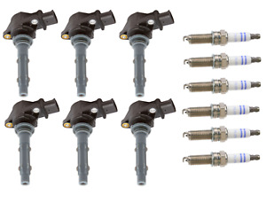 Set of 6 Ignition Coils (DELPHI) + 6 Spark Plugs (BOSCH) OEM for Mercedes-Benz