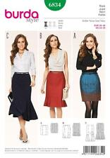 BURDA SEWING PATTERN LADIES 3 TRENDY SKIRTS VARY LENS 10 - 20 6834