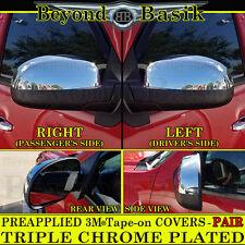 2007-2013 GMC SIERRA 1500 07-14 2500 3500 Top Half Triple Chrome Mirror COVERS