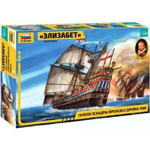 "Zvezda 9001 ""Elizabeth"" Francis Drake Squadron (1588) /british galleon/ 1/200"