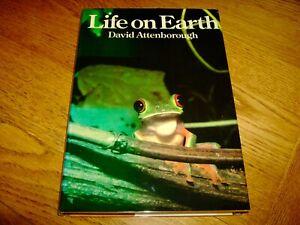 DAVID ATTENBOROUGH-LIFE ON EARTH-SIGNED-8th Imp/1ST-1979-VG-HB-COLLINS/BBC-RARE