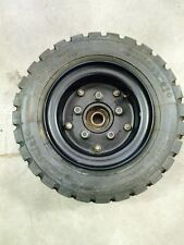Pair Of 150/75 R 8 Pneumatic Tires Rims And Hubs Fits Tennant Sweeper Scrubber
