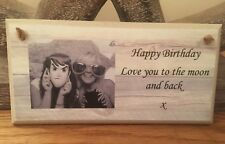 PERSONALISED PLAQUE, PHOTO SIGN BIRTHDAY GIFT MUM DAUGHTER FATHER SON FRIEND