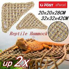 UP2XReptile Hammock Lounger Lizard Basking Platform Dragon Hanging Swing Bearded