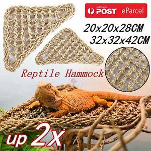 UP2XReptile Hammock Lounger Lizard Basking Platform Dragon Hanging Swing Bearded