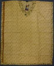 """Gringo Fair Trade Recycled Faux Silk Sari Kaftan 3/4 Length 46"""" Drop (KT5)"""