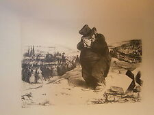 Planche gravure Enfoncé Lafayette !...Attrappe mon vieux  Par Honoré Daumier