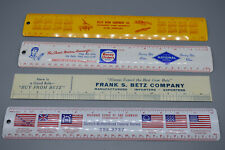 "Pacific Ave Motors TACOMA Advertisers 5 Vintage 12/"" Metal Rulers Washington"