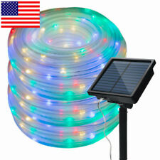 Solar Powered Rope Night Fairy String Twinkle Lights Waterproof Outdoor Garden