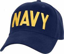 Navy Blue Embroidered US Navy USN Supreme Low Profile Adjustable Hat Cap