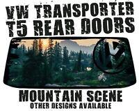 VW Transporter T5 T6 Van Sticker Camper Van Graphics Mountain Scene Custom Decal