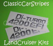 Landcruiser Di turbo 4200 79 ser SILVER Toyota Decal stickers