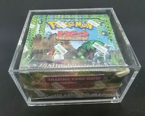 Pokemon Neo Discovery Factory Sealed Booster Box WOTC Yeti Gaming w Display Case
