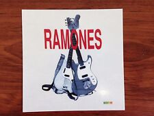 RAMONES - GUITARS - STICKER/DECAL - BRAND NEW VINTAGE - MUSIC BAND 017