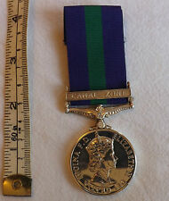 Original Military General Service Medal GSM With Canal Zone Clasp RAF (2534)