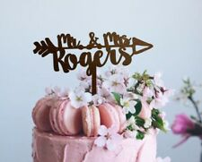 Engagement Cake Topper Wedding Topper Mr and Mrs Rustic Wood Cake Topper Boho