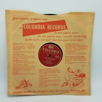 """Tony Bennett 78rpm 10"""" –Columbia #39362 Because Of You / I Wont Cry Anymore VG++"""