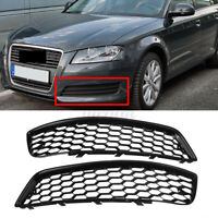 Pair Left + Right Honeycomb Front Bumper Lower Grill For Audi A3 8