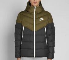 Nike Sportswear Windrunner Down Fill Jacket - Olive Green Black Sail - Small