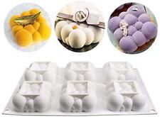 Moule silicone 3D individuel 6 nuages carré bombée silicone pâtisserie gâteau