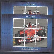 10pcs Sport Cars F1 Ferrari Schumacher imperf Privat Local Issue PL51 not MNH