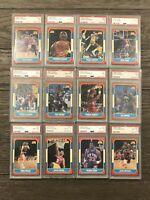 1986 Fleer Basketball 131/132 Near Complete Set Every Card PSA Graded NO Jordan