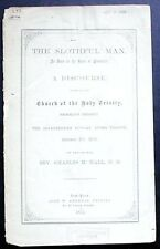 The Slothful Man As Seen in the Book of Proverbs 1st ed. 1872 Brooklyn Heights