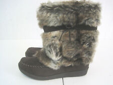 NEW American Eagle Brown Boots With Fur Size 5 MSRP $49.99 (HKR48-1114)
