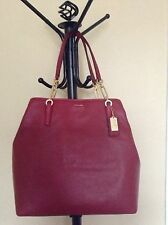 NWT! Coach Madison North/South Tote Leather in Scarlet Red. Perfect gift! $358