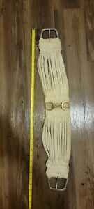 """Classic Equine Mohair Cinch Girth String Rope Natural 30"""" White Soft Horse Tack"""