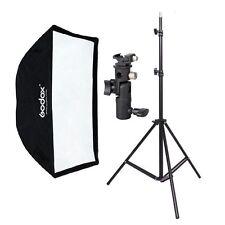 190cm Photography Light Stand + 60x90cm Umbrella Softbox+Hot Shoe Bracket kit