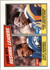 1987 Topps #229 RUSHING LEADERS Eric Dickerson / Curt Warner  Awesome Card !